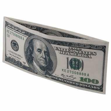 100 dollar biljet portefeuille