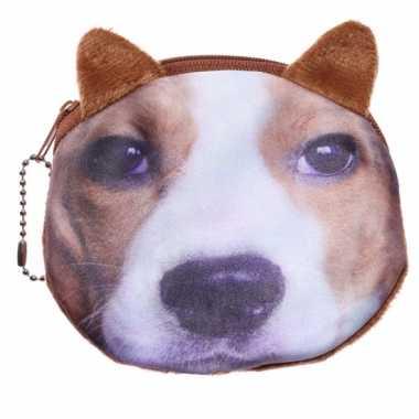 Dierenprint portemonnee beagle 10 x 11 cm