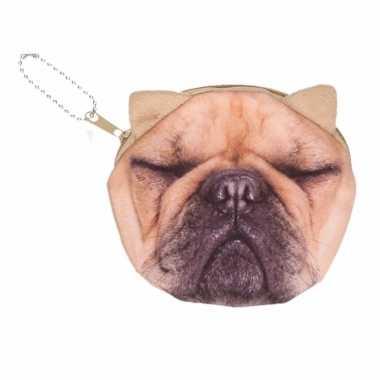 Dierenprint portemonnee franse bulldog 10 x 11 cm 10091503
