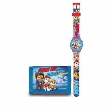 Digitaal horloge met portemonnee paw patrol