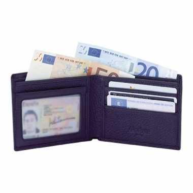 Luxe zwarte leren portemonnee in cadeauverpakking