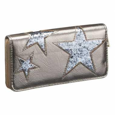 Portemonnee voor dames zilver blauw