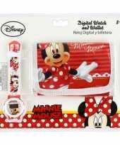 Minnie mouse portemonnee en horloge